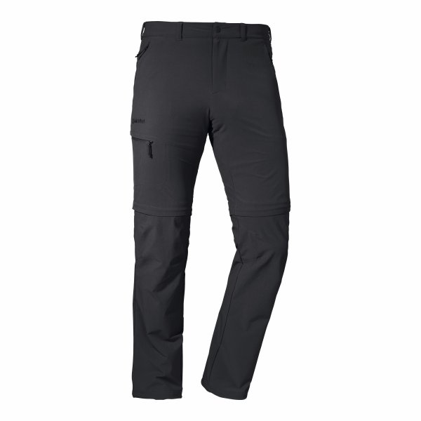 SCHÖFFEL Pants Koper1 Zip Off HERREN black (22854_9990)