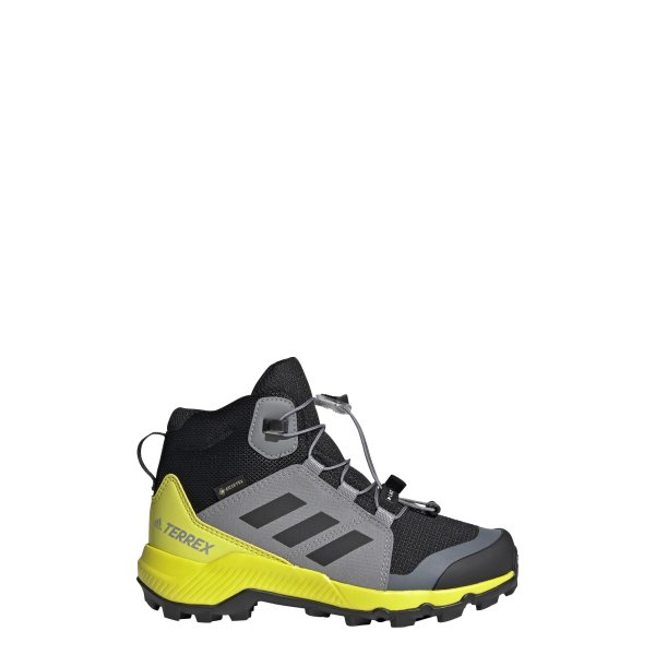 ADIDAS TERREX MID GTX K SCHUHE KINDER core black/grey three/acid yellow (FX4166)
