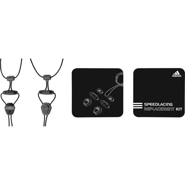 ADIDAS SPEED LACING Kit per la sostituzione dei lacci black (Z36895)