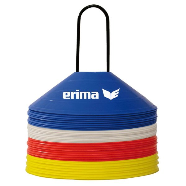ERIMA Markierungshütchen Set red/blue/yellow/white VPE 40 Stk. Ø 20cm, Höhe 5,5 cm (724104)