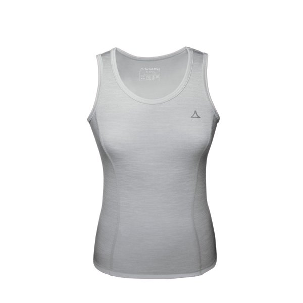 SCHÖFFEL MERINO SPORT FUNKTIONS TOP FRAUEN light grey (11342_9645) XL
