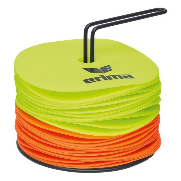 ERIMA MARKIERUNGSSCHEIBEN SET neon yellow/neon orange (7200711) - VPE24 (12+12) 1
