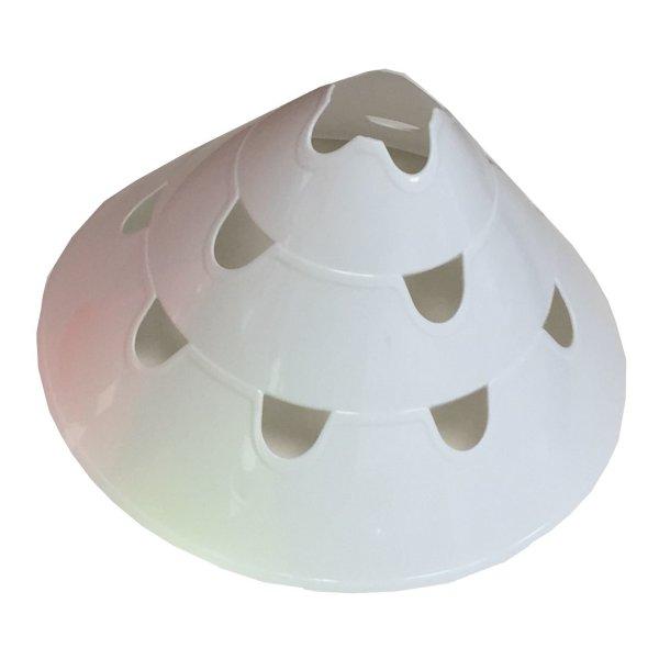 Delimitatore di spazio gigante con scanalature. Diam. 30 cm. - h. 15 cm. (6442) bianco