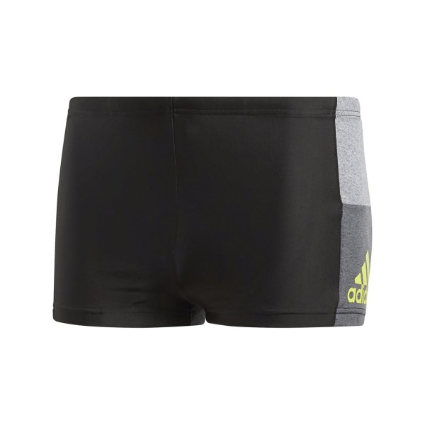 ADIDAS COLOURBLOCK BOXER-BADEHOSE black/semi solar yellow (BS0468)