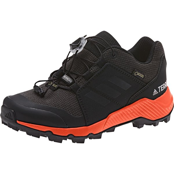ADIDAS TERREX GTX K SCHUHE KINDER core black/carbon/true orange (BC0598) EUR 36²/3 - UK 4