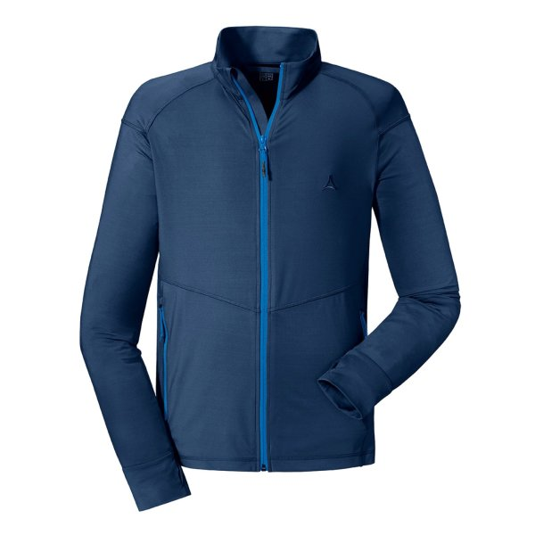 SCHÖFFEL Fleece Jacket Leukerbad M MÄNNER dress blues (22590_8180) GER/ITA 52