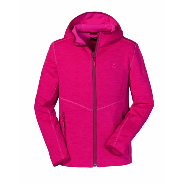 SCHÖFFEL Fleece Hoody Vaduz2 KIDS pink Yarrow (40093_3030)
