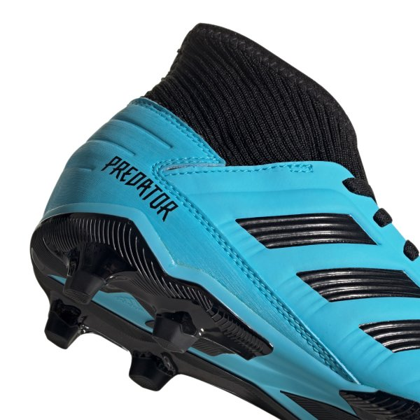 ADIDAS PREDATOR 19.3 FG J FUSSBALLSCHUHE JUNIOR bright cyan/core black/solar yellow (G25796)