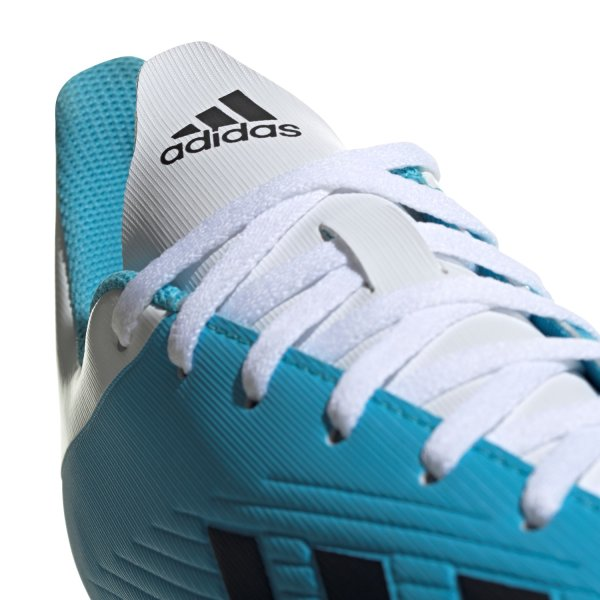 ADIDAS X 19.4 FG FUSSBALLSCHUHE bright cyan/core black/shock pink (F35378) EUR 41¹/3 - UK 7½