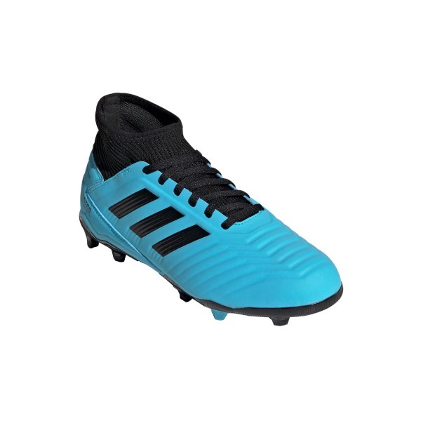 ADIDAS PREDATOR 19.3 FG J FUSSBALLSCHUHE JUNIOR bright cyan/core black/solar yellow (G25796) EUR 35 - UK 2½