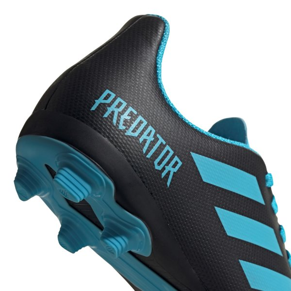 ADIDAS PREDATOR 19.4 FG J FUSSBALLSCHUHE JUNIOR core black/bright cyan/solar yellow (G25823) EUR 31 - UK 12½K