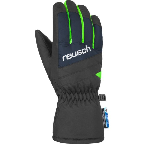 REUSCH Bennet R-TEX® XT Junior HANDSCHUHE dress blue/neon green (4861206_469) Size 4
