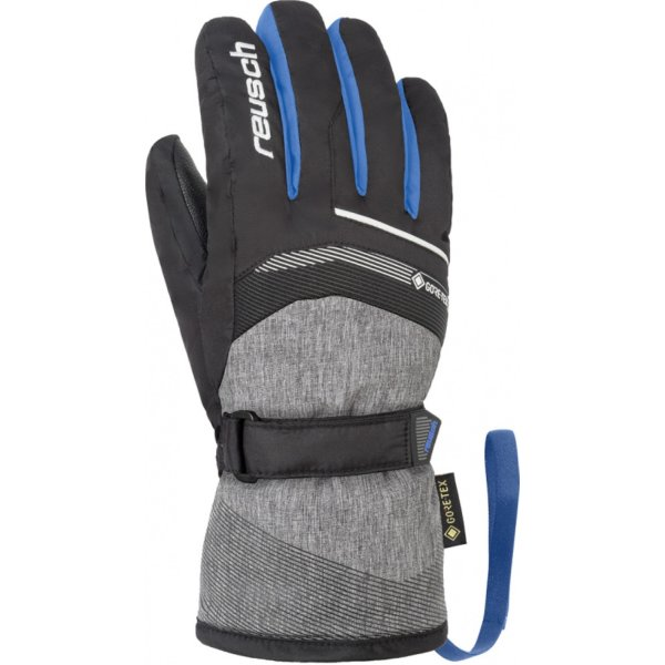 REUSCH Bolt GTX Junior HANDSCHUHE black/black mel/brill blue (4961305_7687) Size 4.5