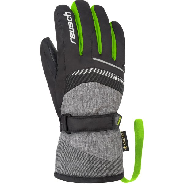 REUSCH Bolt GTX Junior HANDSCHUHE black/black mel/neon green (4961305_7679)